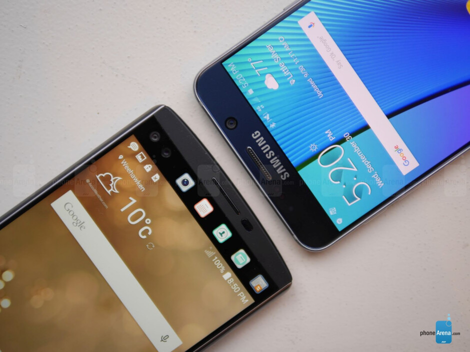 LG V10 vs Samsung Galaxy Note5: first look