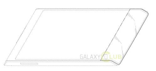 Samsung flexible display phone patent with bottom edge curve