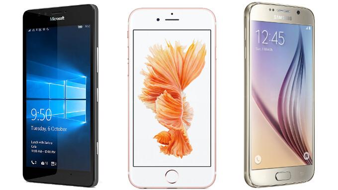 Microsoft Lumia 950 vs Apple iPhone 6 vs Samsung Galaxy S6: specs comparison