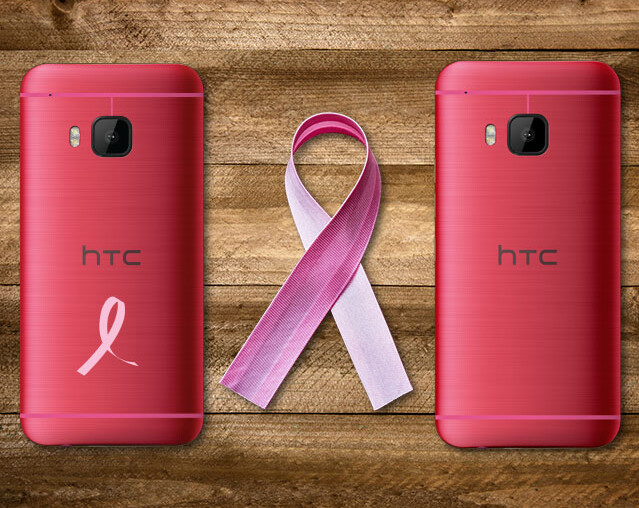 HTC One M9 is available in pink for a limited time, to help raise awareness of breast cancer - Pink HTC One M9 offered by HTC in the U.S. just in time for Breast Cancer Awareness Month