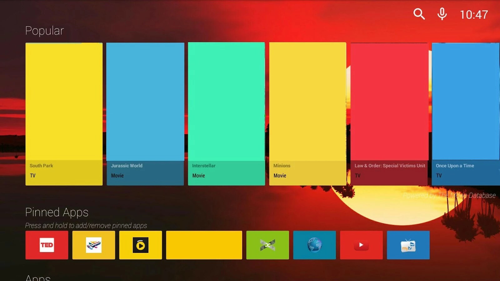 how to change android tv interface