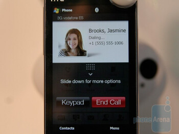 In-call screen