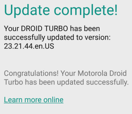 The Motorola DROID Turbo receives a security update to prevent against attacks using Stagefright - Verizon pushes out security update to the Motorola DROID Turbo