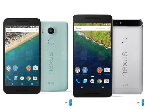 Nexus 5X (left) and Nexus 6P (right)