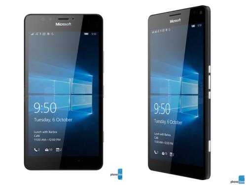 Lumia 950 (left) and Lumia 950 XL (right)