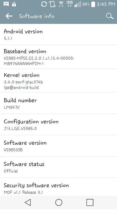 Verizon's LG G3 is receiving an update to Android 5.1.1 - Verizon branded LG G3 receiving update to Android 5.1.1