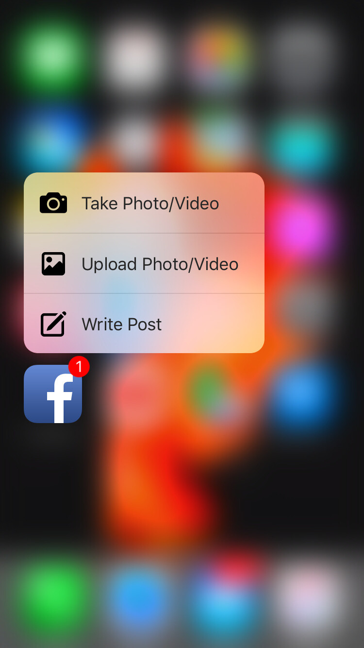 New app with 3D Touch: Facebook update brings 3D Touch support for iPhone 6s family