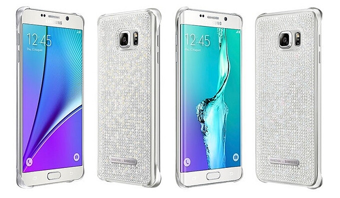 Swarovski's Crystal Silver cover for the Note5 and S6 edge+ - Samsung's Galaxy S6 edge+ and Galaxy Note5 get luxury accessories from Montblanc and Swarowski