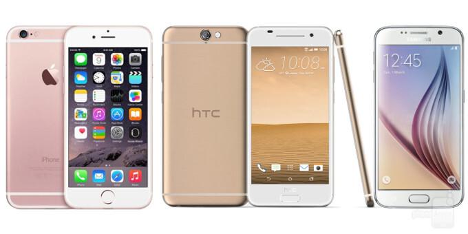 HTC One A9 vs Apple iPhone 6s vs Samsung Galaxy S6: specs