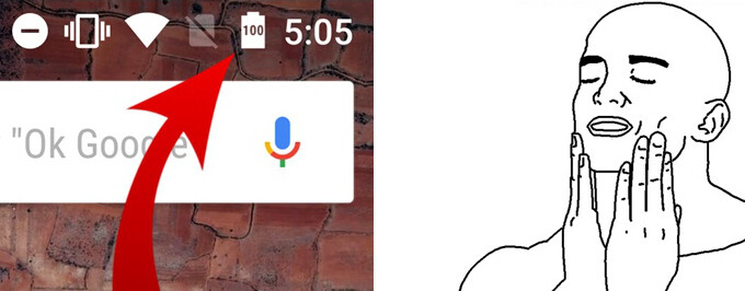 (Android) How to get the percentages indicator inside the battery icon, just like it is in Android Marshmallow