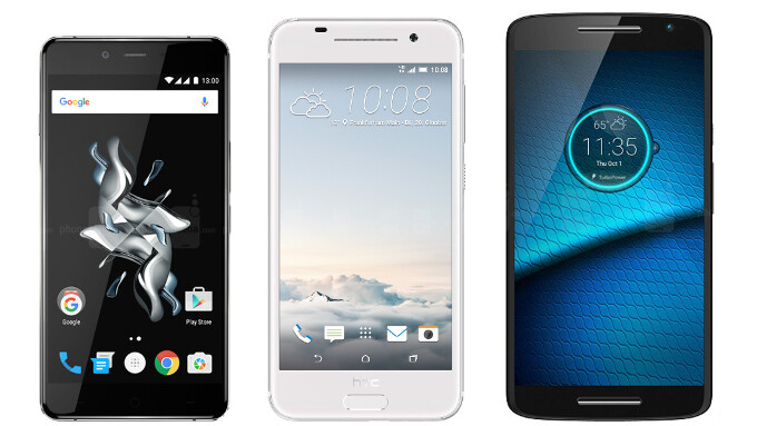 OnePlus X vs HTC One A9 vs Motorola DROID MAXX 2: specs comparison