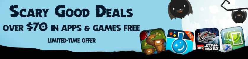 To celebrate Halloween, Amazon is offering free apps and games worth over $70