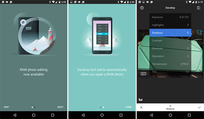 Snapseed gets RAW photo editing: see the difference between JPG and RAW here
