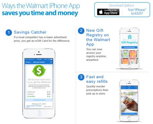 Features of Walmart's iOS app