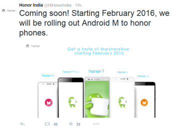 Huawei's Honor phones will receive Android 6.0 in February