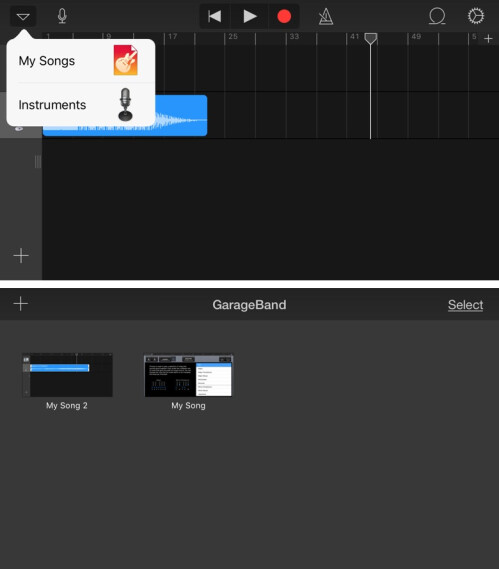 how to make a song on garageband iphone