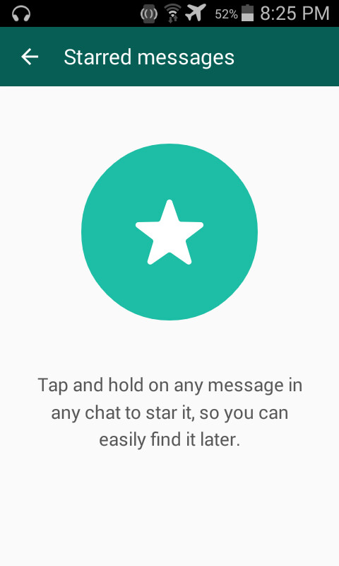 """New WhatsApp beta 2.12.338 lets you star messages"""" &nbsp"""