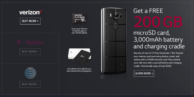 LG V10 price and release date