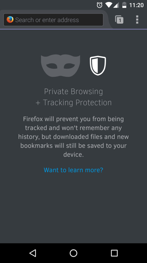 Firefox for Android now features Tracking Protection