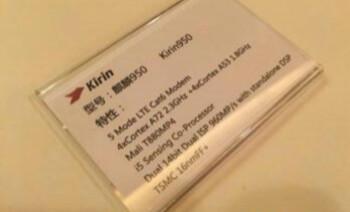 Kirin 950 revealed by Huawei