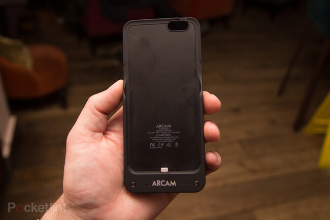 Arcam MusicBoost is an iPhone 6 case with dedicated DAC, headphone amp, and internal battery