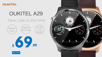 The Oukitel A29 smartwatch can be pre-ordered starting tomorrow for $69.99