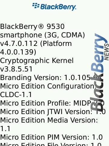 New Copy and Paste functions for BlackBerry Storm as OS .112 leaks out?