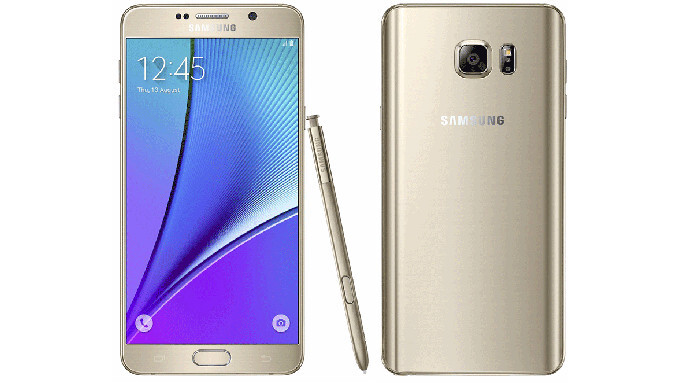 Galaxy Note 5 in Gold Platinum officially makes its US debut, currently only available at T-mobile