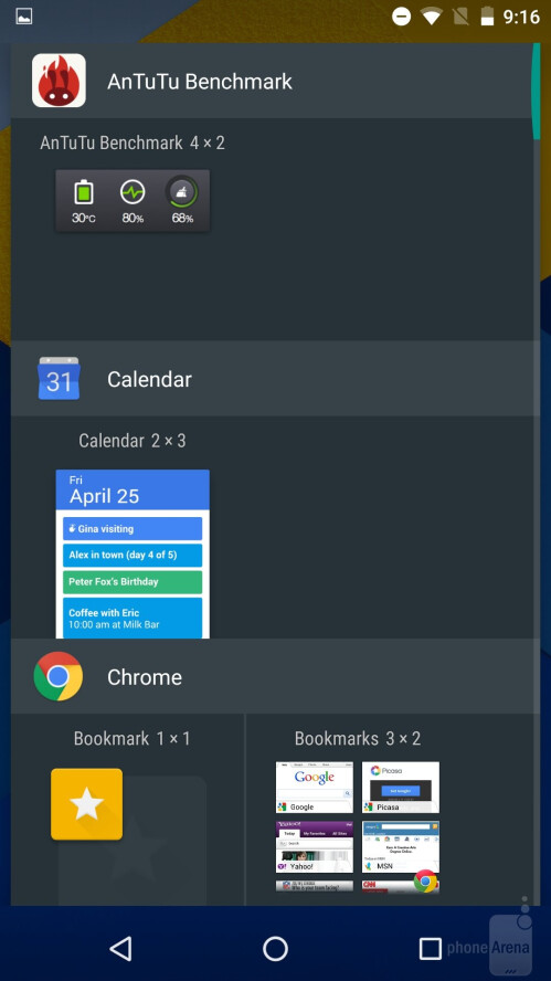 Google's flat and colorful Material Design