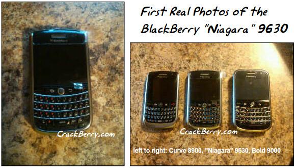 Shots of the BlackBerry Niagara 9630 finally caught