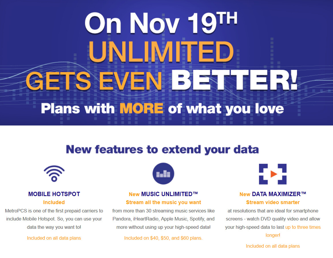 MetroPCS adds Music Unlimited and Data Maximizer for unlimited music