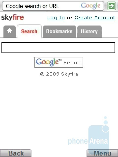 Search - Hands-on with Skyfire browser