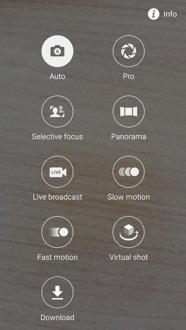 More camera modes