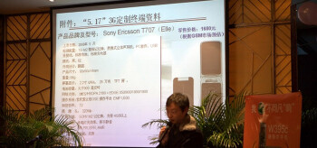 The T707 Elle at a Sony Ericsson press-conference
