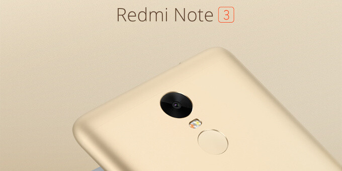 Xiaomi unveils its first metal phone with a fingerprint scanner: meet the Redmi Note 3 and its 4,000mAh battery
