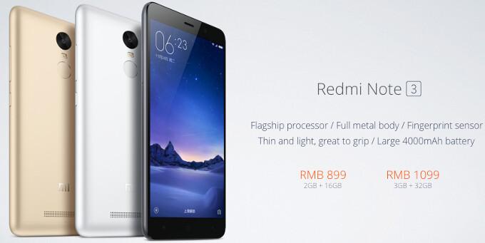 Xiaomi Redmi Note 3 price and release date