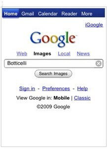 Android and the iPhone get a new image search page