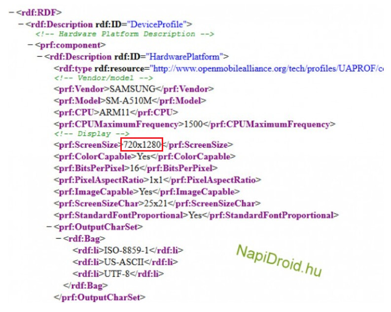 UAProf reveals a 720 x 1280 resolution display for the second-generation Samsung Galaxy A5 - User Agent profile confirms 720 x 1280 HD resolution for second-gen Samsung Galaxy A5