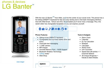 Alltel launches LG Banter