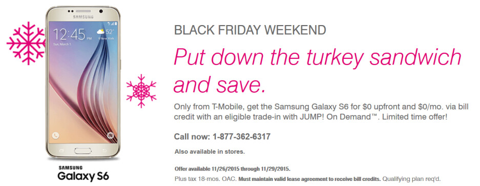 T-Mobile has special Black Friday deals on Samsung's high-end Galaxy models - T-Mobile cuts $100 off Samsung's high-end Galaxy models; sale runs through November 29th