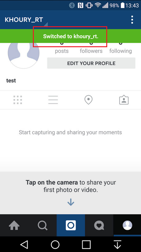 Instagram's Android app will support multiple accounts
