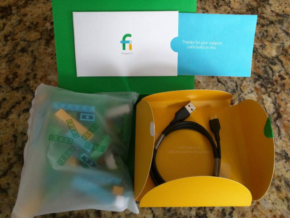 Google sends Project Fi customers a bag of Legos and a USB Type-C cable - Some Project Fi customers have received a little surprise in the mail