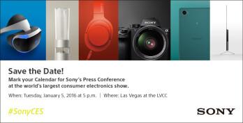 Sony's CES 2016 press invite.