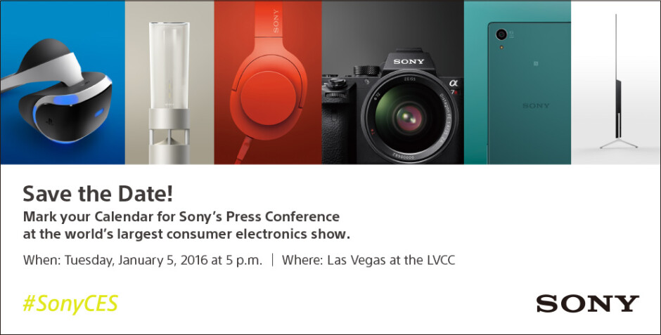 Sony's CES 2016 press invite. - CES 2016: what to expect