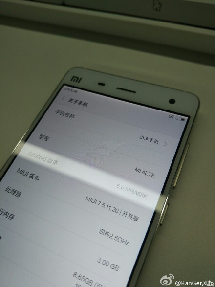 Teasing Android 6.0 Marshmallow on the Mi 4 - Xiaomi Mi 4 and Mi Note to get bumped to Android 6.0 Marshmallow shortly