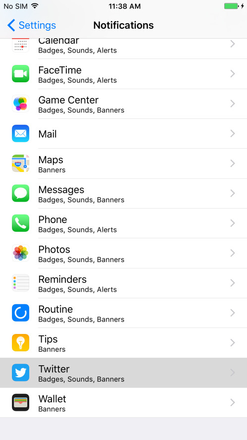 Next, scroll down to see a list of all of your apps and tap on the one that is disturbing you