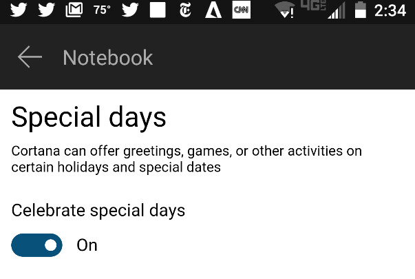 "Update to Cortana adds the new Special days feature, even on Android phones - Cortana update will allow the virtual assistant to greet you, play games and more on ""Special days"""