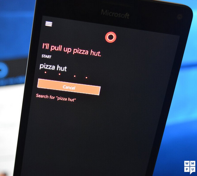 Dying for a pizza? Just say Pizza Hut to Cortana on your Windows 10 Mobile phone and she will open the website - Cortana will open certain websites on Windows 10 Mobile without having to pin them first