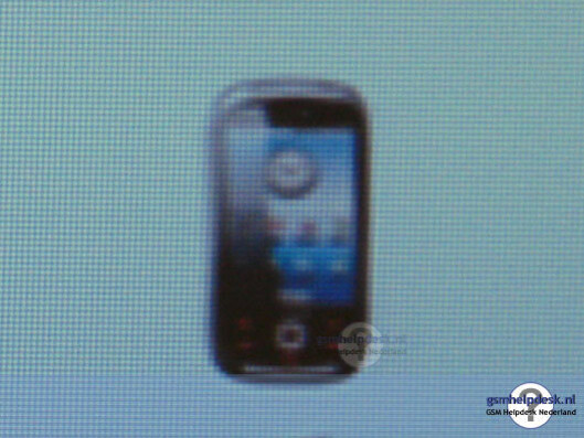 Sneak peek at the first Android-powered Samsung phone