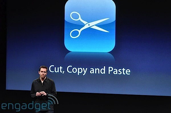 Apple previews iphone 3 0 software for In this house copy and paste
